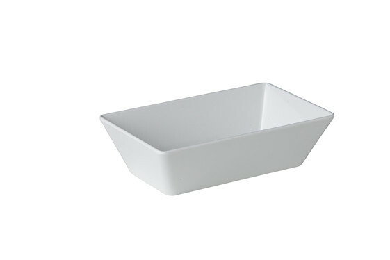 Stylepoint melamine rechthoekige bak wit 25 x 15 x 7 cm