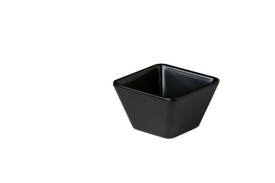 Stylepoint melamine vierkant bakje zwart 8,9 x 8,9 x 5,5 cm