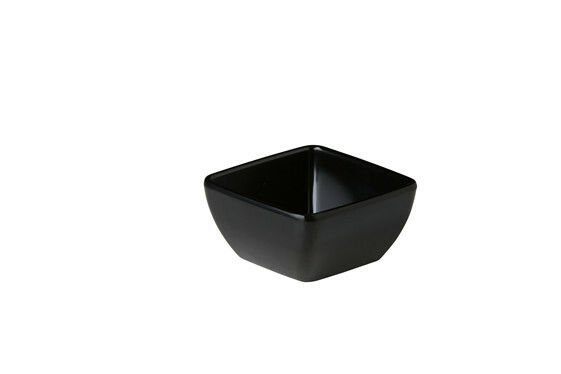 Stylepoint melamine vierkant bakje zwart 8,9 x 8,9 x 4,5 cm