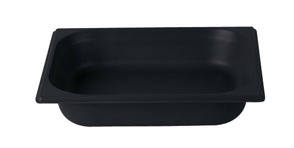 Stylepoint Bamboo Fibre gastronormbak zwart 1/2 GN 6,5 cm diep