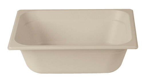 Stylepoint Bamboo Fibre gastronormbak creme 1/2 GN 10 cm diep