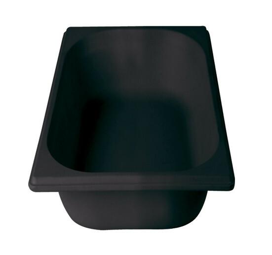 Stylepoint Bamboo Fibre gastronormbak zwart 1/3 GN 6,5 cm diep