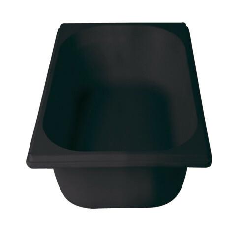 Stylepoint Bamboo Fibre gastronormbak zwart 1/3 GN 10 cm diep