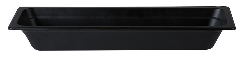 Stylepoint Bamboo Fibre gastronormbak zwart 2/4 GN 6,5 cm diep