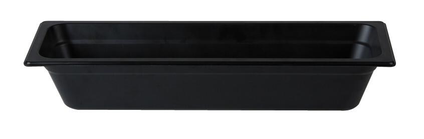 Stylepoint Bamboo Fibre gastronormbak zwart 2/4 GN 10 cm diep