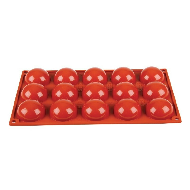 Pavoni 15 halve bollen 1/3 GN Ø 5 cm diep 2,3 cm