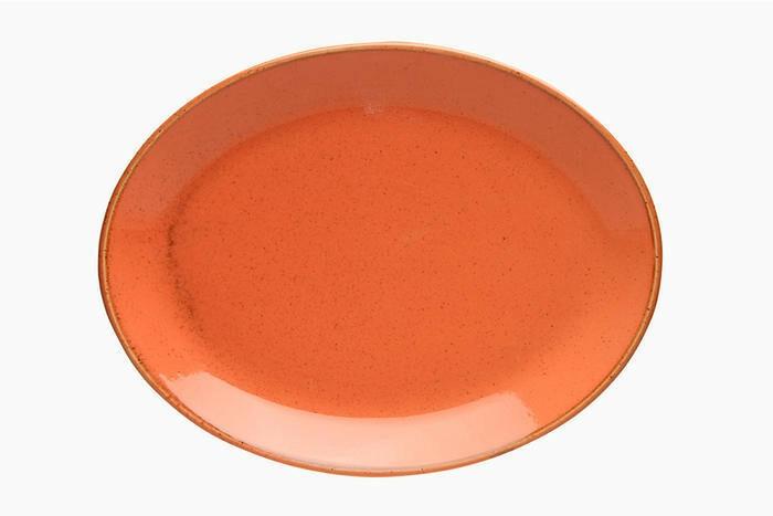 Porland Seasons Orange ovaal bord 31 x 24 cm