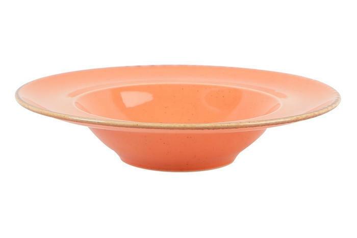 Porland Seasons Orange bord diep brede rand 30 cm