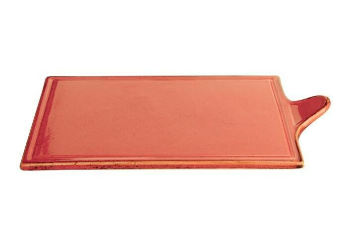 Porland Seasons Orange oblong bord met greep 34 x 21 cm