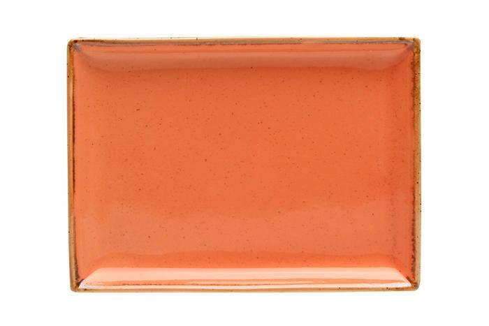Porland Seasons Orange oblong bord 18 x 13 cm