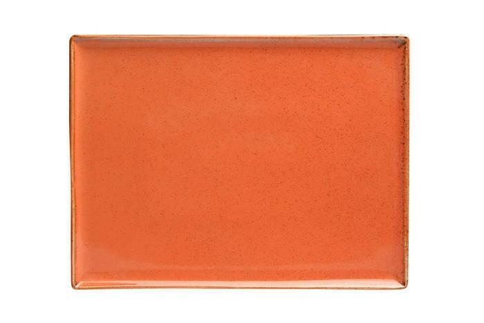 Porland Seasons Orange oblong bord 35 x 25 cm