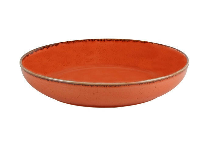 Porland Seasons Orange bowl laag 22 cm 83,5 cl