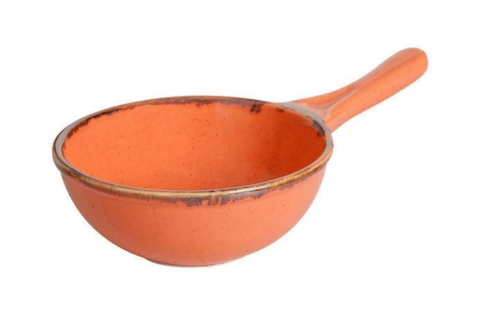 Porland Seasons Orange bowl met steel 16 cm