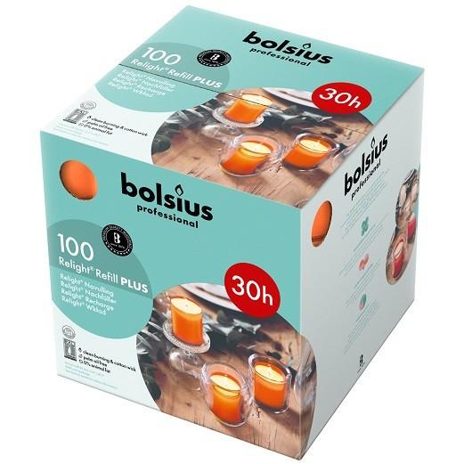 Bolsius ReLight Refill Plus oranje 30 uur DOOS 100