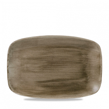 Stonecast Patina Antique Taupe chef`s oblong plate 35,5 x 24,5 cm