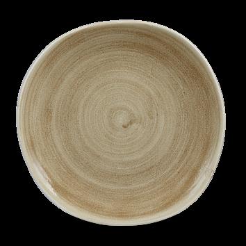 Stonecast Patina Antique Taupe organic bord plat 26,4 cm