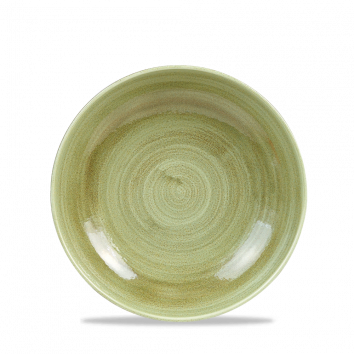 Stonecast Patina Burnished Green coupe bowl 18,2 cm