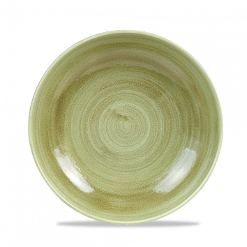 Stonecast Patina Burnished Green coupe bowl 24,8 cm