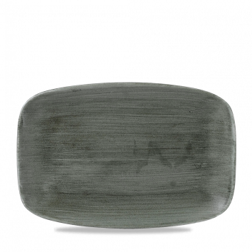 Stonecast Patina Burnished Green chef`s oblong plate 30 x 19,9 cm