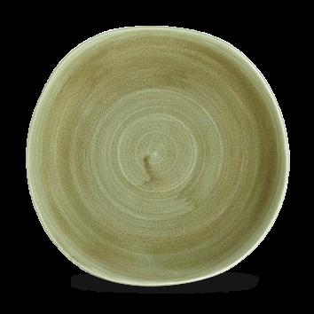 Stonecast Patina Burnished Green organic bord plat 26,4 cm