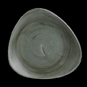 Stonecast Patina Burnished Green triangle bord 26,5 cm