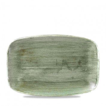 Stonecast Patina Burnished Green chef`s oblong plate 35,5 x 24,5 cm