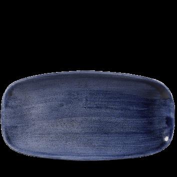 Stonecast Patina Cobalt Blue chef`s oblong plate 29,8 x 15,3 cm