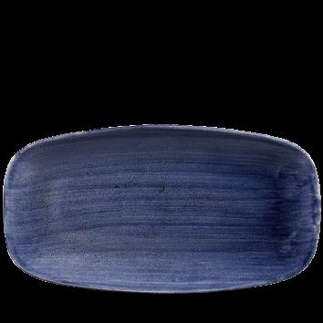 Stonecast Patina Cobalt Blue chef`s oblong plate 35,5 x 18,9 cm