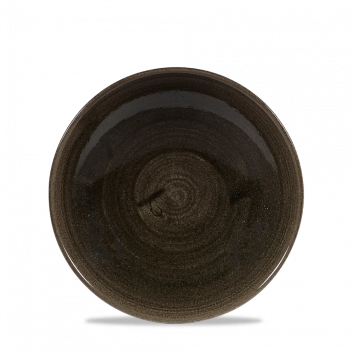 Stonecast Patina Iron Black coupe bowl 18,2 cm