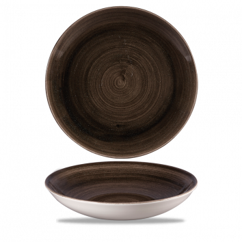 Stonecast Patina Iron Black coupe bowl 24,8 cm