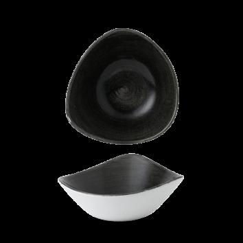 Stonecast Patina Iron Black triangle bowl 18,5 cm