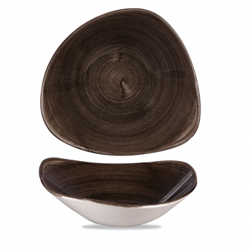 Stonecast Patina Iron Black triangle bowl 23,5 cm