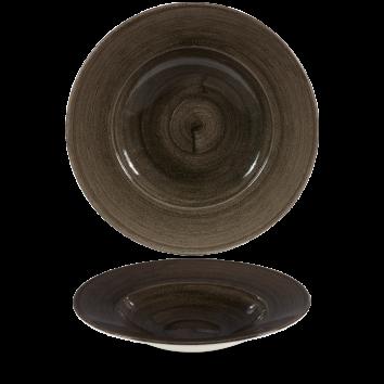 Stonecast Patina Iron Black diep bord brede rand 28 cm