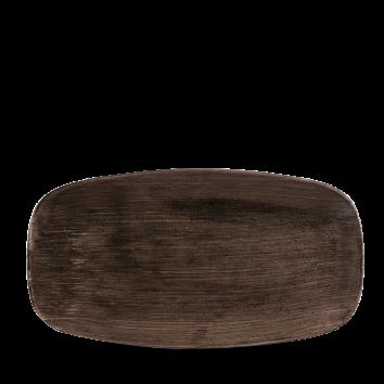 Stonecast Patina Iron Black chef`s oblong plate 35,5 x 18,9 cm