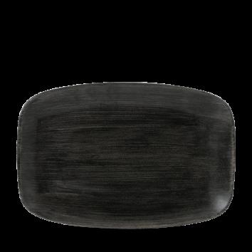 Stonecast Patina Iron Black chef`s oblong plate 35,5 x 24,5 cm