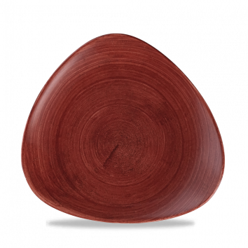 Stonecast Patina Rust Red triangle bord 22,9 cm