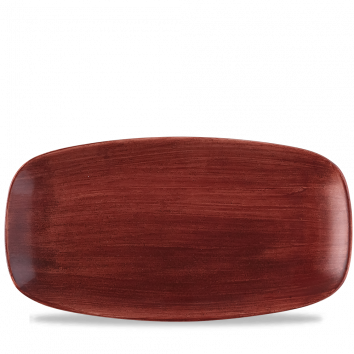 Stonecast Patina Rust Red chef`s oblong plate 35,5 x 18,9 cm