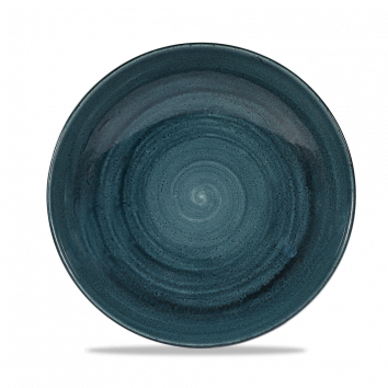 Stonecast Patina Rustic Teal coupe bowl 24,8 cm