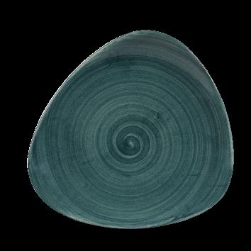 Stonecast Patina Rustic Teal triangle bord 22,9 cm