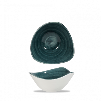 Stonecast Patina Rustic Teal triangle bowl 15,3 cm