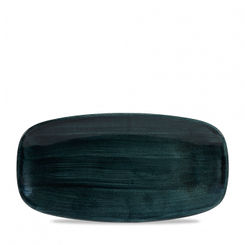 Stonecast Patina Rustic Teal chef`s oblong plate 29,8 x 15,3 cm