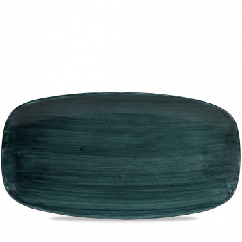 Stonecast Patina Rustic Teal chef`s oblong plate 35,5 x 18,9 cm