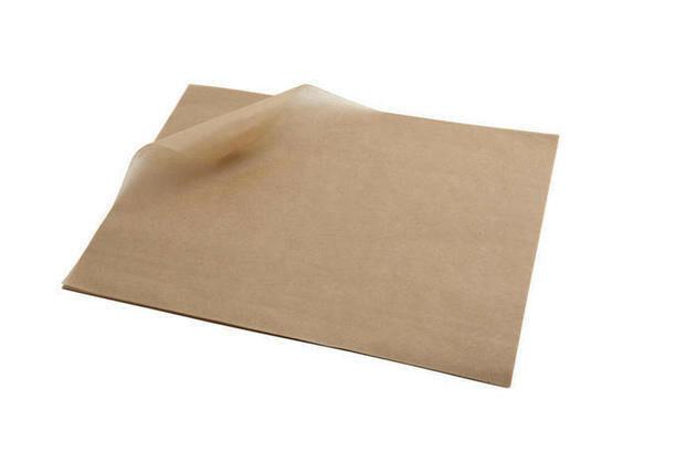 vetvrij papier bruin 25 x 20 cm DOOS 1000