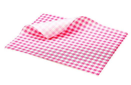 vetvrij papier rood geblokt 25 x 20 cm DOOS 1000