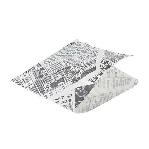 vetvrij papier Newspaper puntzak 17,5 x 17,5 cm wit DOOS 1000