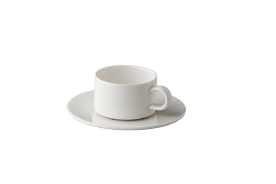 Q Fine China stapelbare koffiekop 16,5 cl
