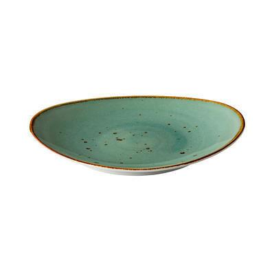 Q Authentic Aqua ovaal bord 30 x 25,5 cm