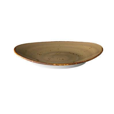 Q Authentic Sand ovaal bord 17,1 x 14,8 cm