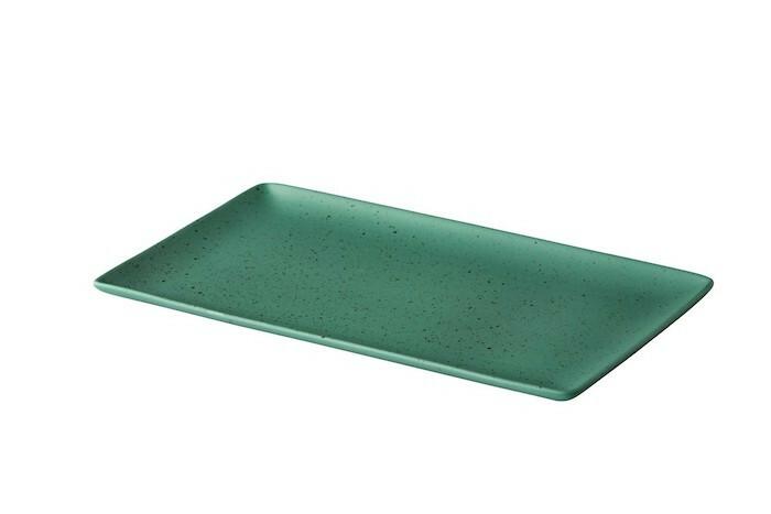 Q Authentic Tinto rechthoekig bord mat groen 19 x 33,5 cm