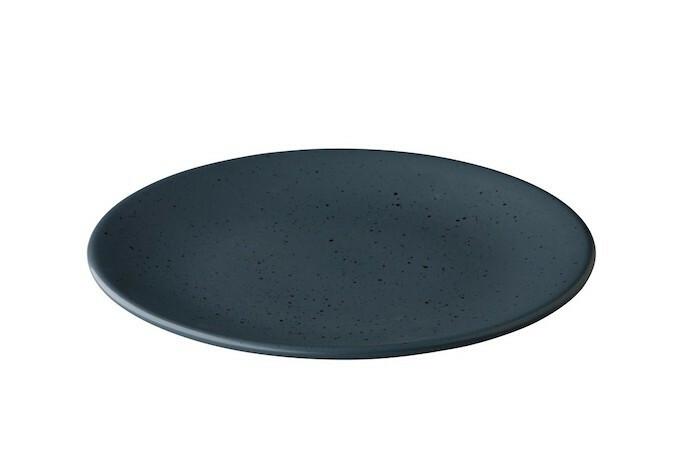 Q Authentic Tinto bord rond mat donkergrijs 30 cm